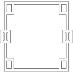 ornamental decorative frame