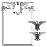 Vector template wifh eagle for the design of diploma, advertisem