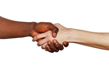 Interracial handshake