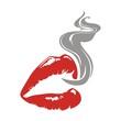 lips and smoke - 77311703