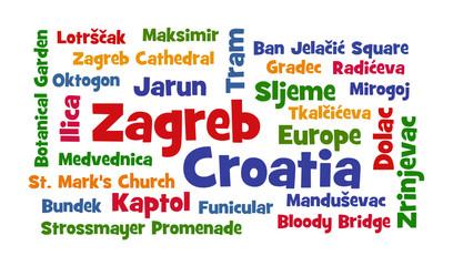 Zagreb, Croatia word cloud