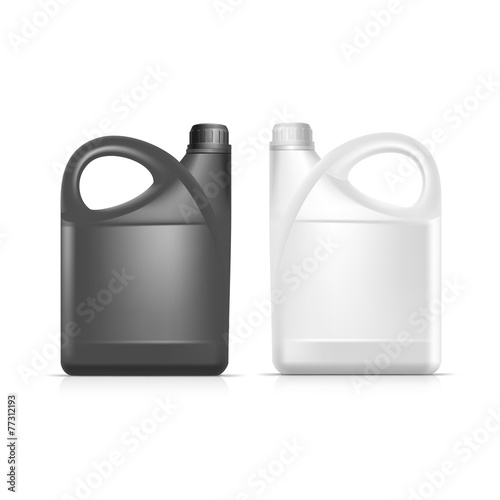 Vector Blank Plastic Jerrycan Canister Gallon - 77312193