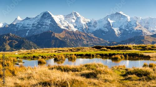 Deurstickers Alpen Eiger, Mönch und Jungfrau