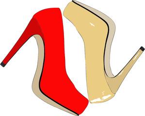 Scarpe femminili eleganti e alla moda