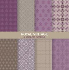 8 Seamless Patterns - Royal Vintage Set