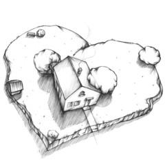Traumhaus von oben