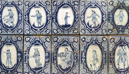 Old ceramic tile 19th century
