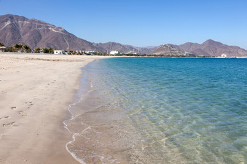 Beach in Khor Fakkan, Fujairah, United Arab Emirates