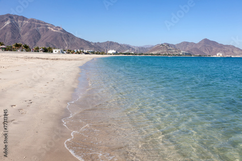 Beach in Khor Fakkan, Fujairah, United Arab Emirates - 77313945