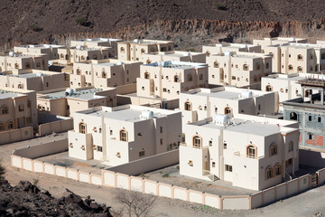 New residential buildings in Khor Fakkan, Fujairah