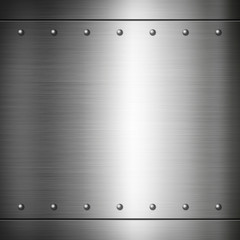 Steel riveted brushed plate texture
