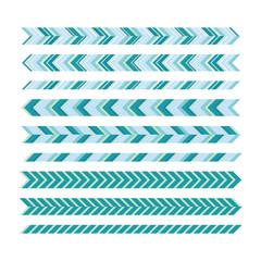 Underlines. Universal underscore lines. Geometric decorative ele