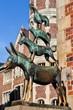 Leinwandbild Motiv Bremer Stadtmusikanten