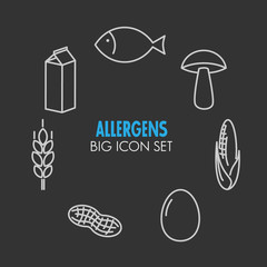 Vector icons for allergens