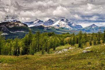Wild landscape mountain range view, Banff national park, Canada
