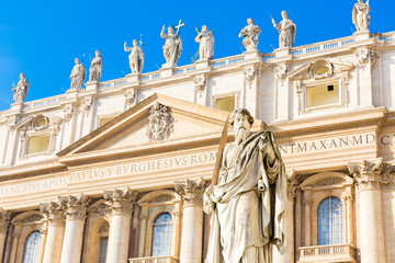 St. Paul Statue in Vatican City, Italy