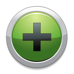 Plus Sign Icon / Green Button