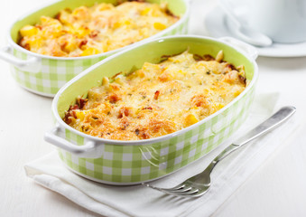 Casserole with pasta and cheese