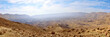 Panorama of Small Crater in Negev desert. - 77319568