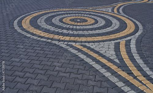 Zdjęcia na płótnie, fototapety, obrazy : pattern on the pavement