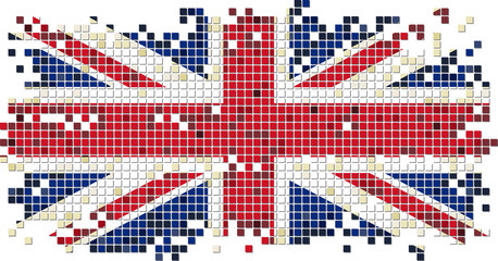 British grunge tile flag. Vector illustration