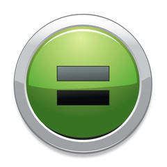 Equal Sign Icon / Green Button