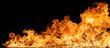 Leinwanddruck Bild - Beautiful stylish fire flames