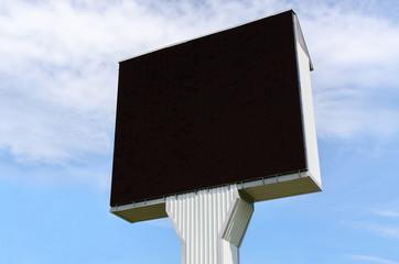 Empty billboard on the sky background