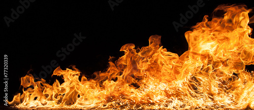 Beautiful stylish fire flames - 77320339