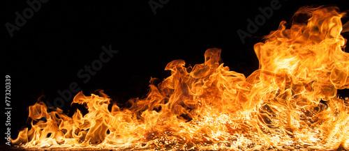 Leinwanddruck Bild Beautiful stylish fire flames