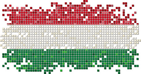 Hungarian grunge tile flag. Vector illustration