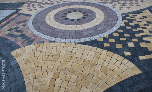 pattern on the pavement - 77320718
