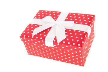 Red dotted gift