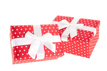 Red dotted presents