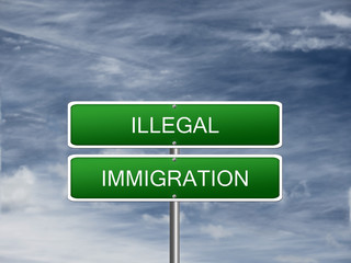 Illegal Immigration Crisis Sign