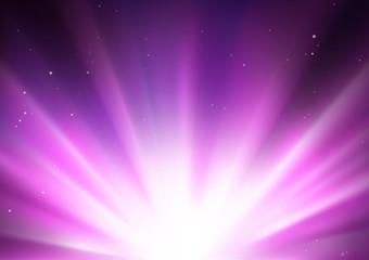 Star Burst And Light Explosion
