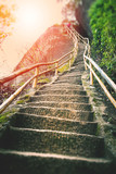 Stairs on the mountain