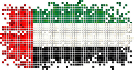 United Arab Emirates grunge tile flag. Vector illustration