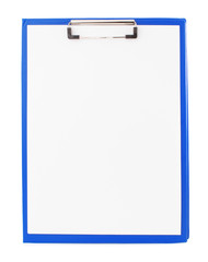 paper clipboard isolated on white