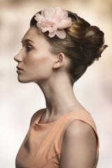 beauty woman in profile