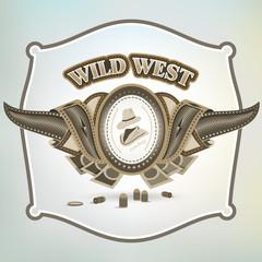 wild west cowboy element emblem
