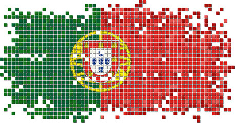 Portuguese grunge tile flag. Vector illustration