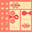 vector restaurant menu card, food background, cook chef design
