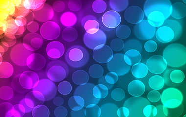 Abstract colorful rainbow defocused bookeh texture