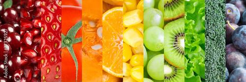 Fotobehang Vruchten Fresh food background