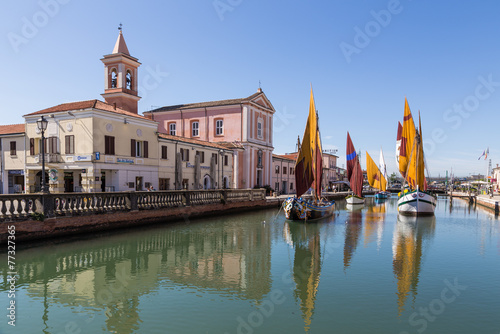 City on the water boats museum in Cesenatico, Emilia Romagna, Italy