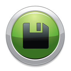 Save Sign Icon / Green Button