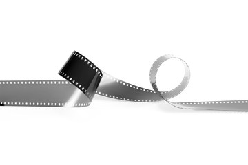 Monochrome film for the analog camera. Isolated