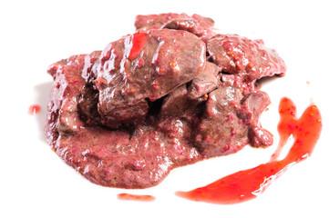 Prepared chicken liver