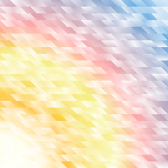 Dawn sun rises over ocean geometric abstract background
